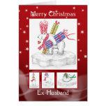 Cartão de Natal do Ex-Marido - ursos polares
