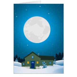 Cartão de Natal do inverno