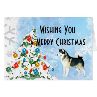 Cartão de Natal do Malamute do Alasca