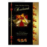 Cartão de Natal do marido - azevinho e Bels - eneg