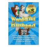 Cartão de Natal do marido - esquilos do amor