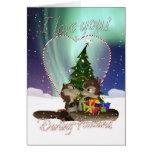 Cartão de Natal do marido eu te amo com amor de Sq