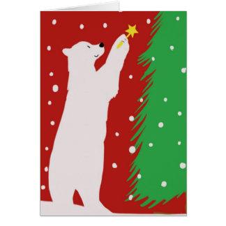 Cartão de Natal do urso polar