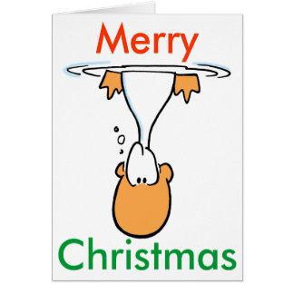 Cartão de Natal dos desenhos animados do pato do