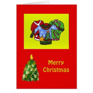 Cartão de Natal feio da camisola