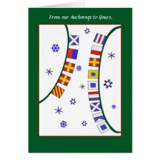 Cartão Cartão de Natal feito sob encomenda da bandeira de
