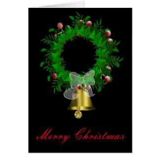 Cartão de Natal festivo da grinalda