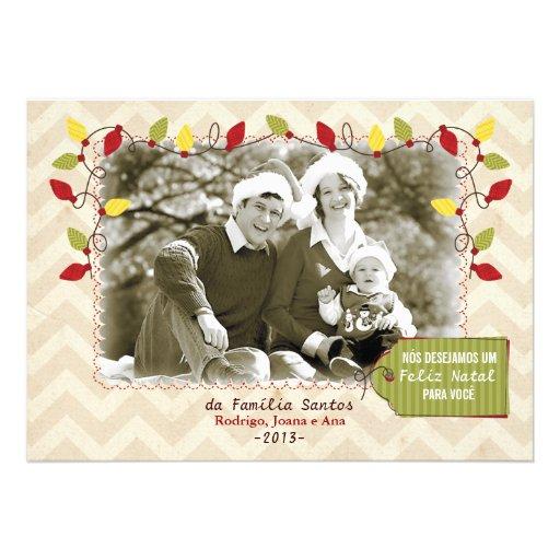 Cartão de Natal foto Convite Personalizado