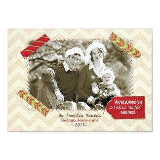 Cartão de Natal foto Convite 12.7 X 17.78cm