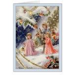 Cartão de Natal italiano de Buon Natale dos anjos