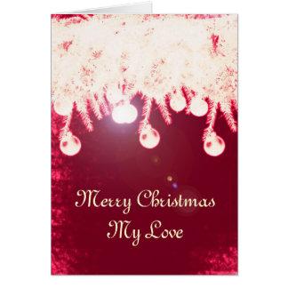 Cartão de Natal mágico romântico