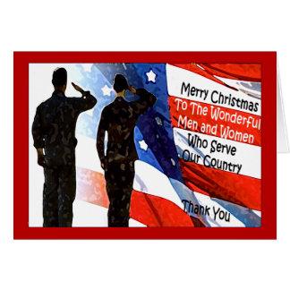 Cartão de Natal militar