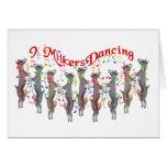Cartão de Natal musical da cabra