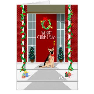 Cartão de Natal - Natal do german shepherd
