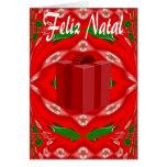 Cartão de Natal no português