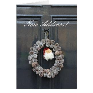 Cartão de Natal novo do anúncio do endereço