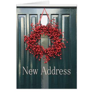 Cartão de Natal novo do endereço
