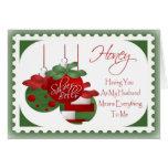 Cartão de Natal para o marido
