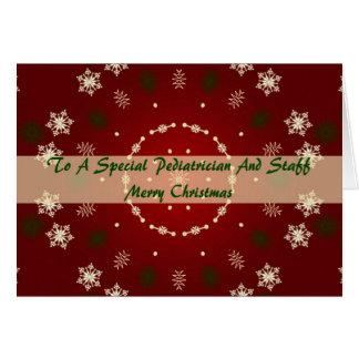 Cartão de Natal para o pediatra e os funcionarios