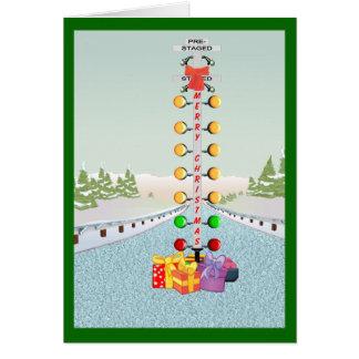 Cartão de Natal principal do motor