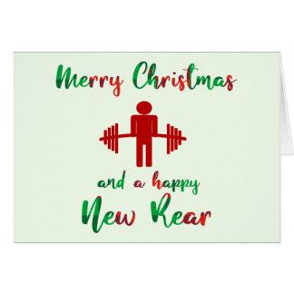 Cartão de Natal temático da malhação engraçada