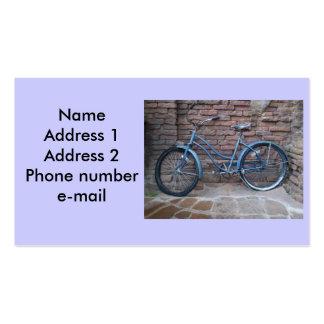 Cartão de negócio da bicicleta do vintage cartao de visita