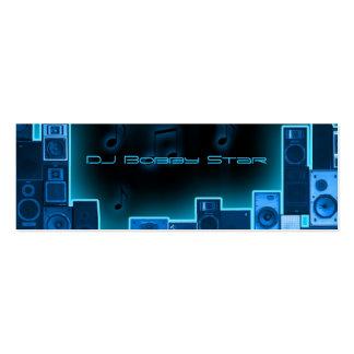 Cartão de negócios azul do DJ da noite Cartão De Visita Skinny
