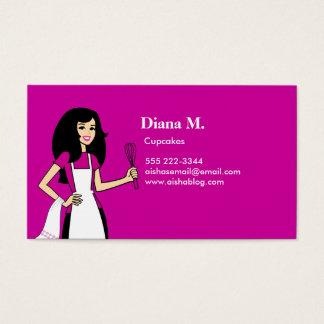 Cartão de negócios culinário do decorador do bolo cartão de visita