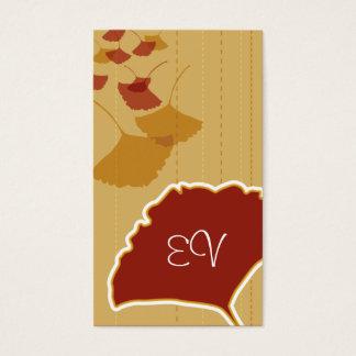Cartão de negócios da folha da nogueira-do-Japão