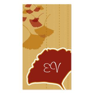 Cartão de negócios da folha da nogueira-do-Japão Cartões De Visita