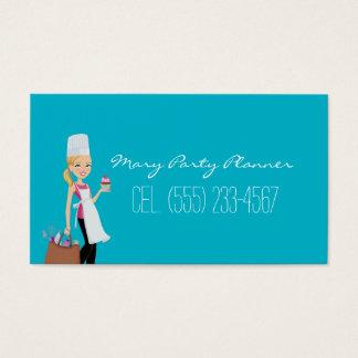 Cartão de negócios do planejador da festa de