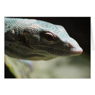 Cartão de nota 2 do lagarto