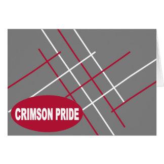 Cartão de nota carmesim do orgulho