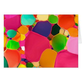 Cartão de nota colorido 01