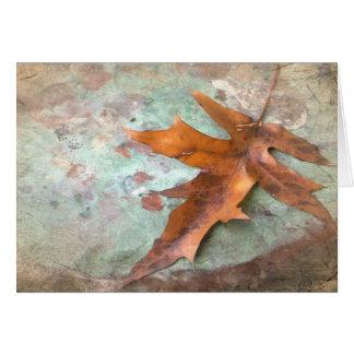 Cartão de nota com design do outono