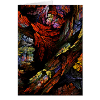 Cartão de nota da arte abstracta da harmonia da