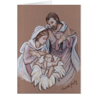 Cartão de nota da arte da natividade