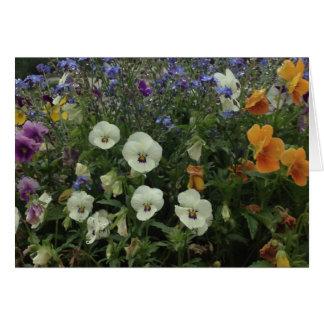 Cartão de nota da flor