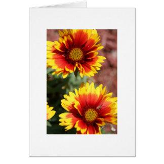 Cartão de nota da flor geral