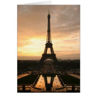 Cartão de nota da torre Eiffel