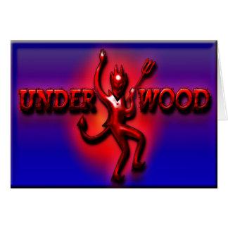 Cartão de nota de cumprimento do diabo vermelho