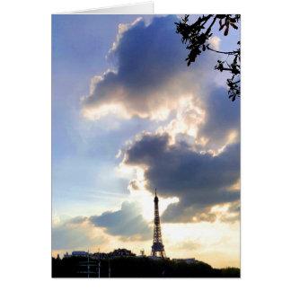 Cartão de nota de Paris que caracteriza a torre