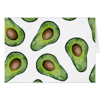 Cartão de nota do abacate