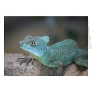Cartão de nota do lagarto