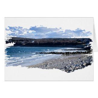 Cartão de nota do vazio da paisagem do litoral
