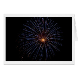 Cartão de nota dos fogos-de-artifício