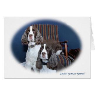 Cartão de nota dos Spaniels de Springer inglês