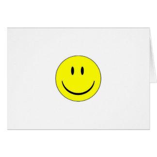 Cartão de nota feliz da cara