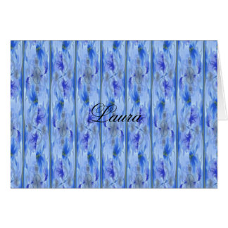 Cartão de nota personalizado - floral brandamente