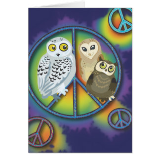 Cartão de Owls~Greeting da paz